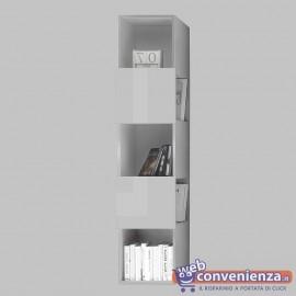 INFINITY Libreria Vano a Giorno Grande Effetto Dama Bianco Lucido