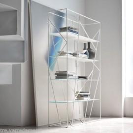 Libreria NAVIGLIO metallo nero e legno Rovere Naturale