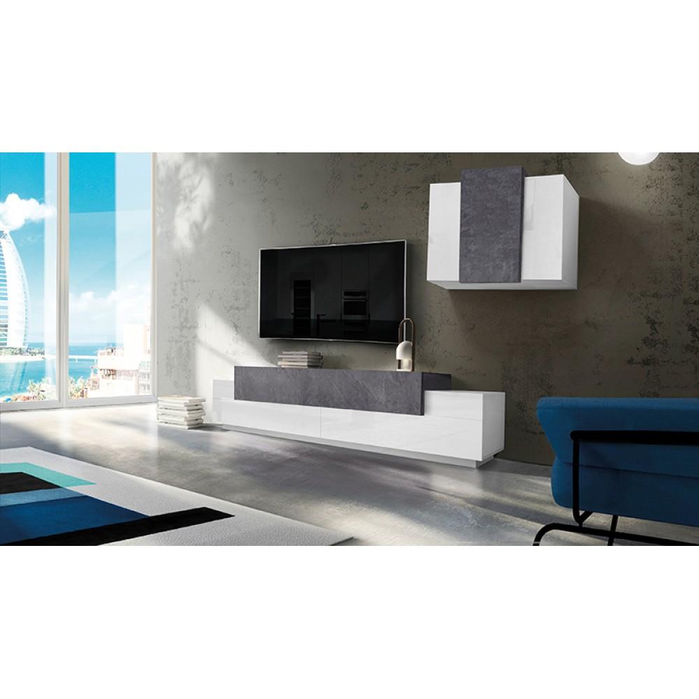 BAND Pensile + Porta TV 240 Bianco Lucido - Report