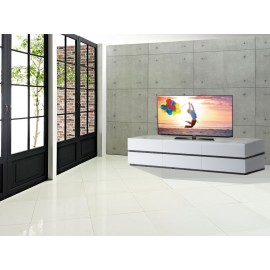 Rex Base porta tv 6 cassetti bianco opaco con zoccolo wenghè